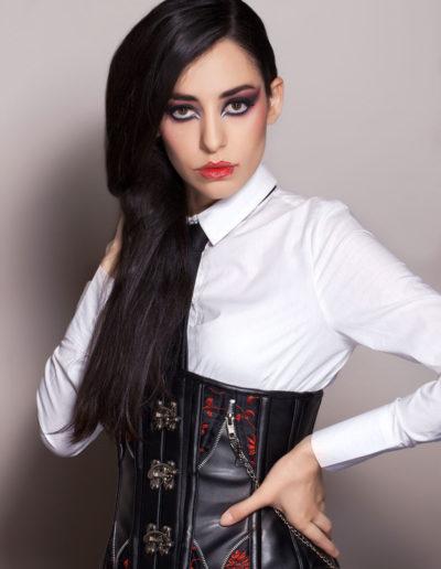 maquillage charbonneux fashion show